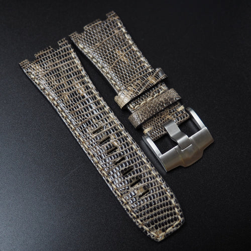 Brown Lizard Leather Watch Strap For Audemars Piguet Royal Oak Offshore - Strapholic_錶帶工房, Rolex, IWC, Panerai, AP, Cartier, Tudor, Omega, Watch_Bands