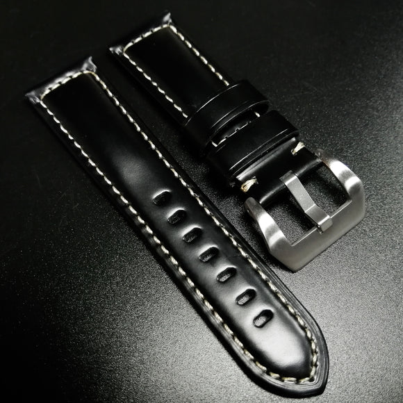 Panerai Style Black Calf Leather Watch Strap - Strapholic_錶帶工房, Rolex, IWC, Panerai, AP, Cartier, Tudor, Omega, Watch_Bands