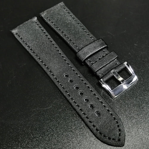 Blancpain Style Black Calf Leather Watch Strap - Strapholic_錶帶工房, Rolex, IWC, Panerai, AP, Cartier, Tudor, Omega, Watch_Bands