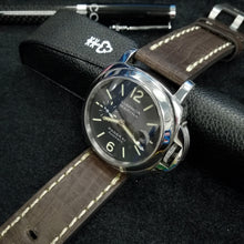 Dark Brown Calf Leather Watch Strap w/ Buckle For Panerai - Strapholic_錶帶工房, Rolex, IWC, Panerai, AP, Cartier, Tudor, Omega, Watch_Bands