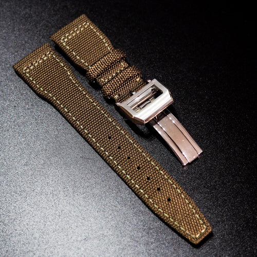IWC Aviation Style Ochre Orange Nylon Watch Strap - Strapholic_錶帶工房, Rolex, IWC, Panerai, AP, Cartier, Tudor, Omega, Watch_Bands