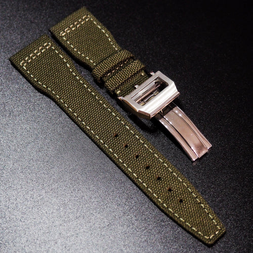 IWC Aviation Style Army Green Nylon Watch Strap - Strapholic_錶帶工房, Rolex, IWC, Panerai, AP, Cartier, Tudor, Omega, Watch_Bands