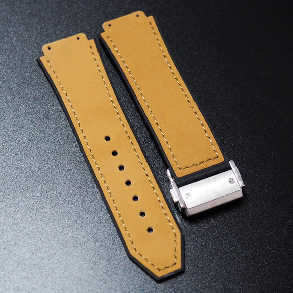 Khaki Calf Leather Watch Strap With Clasp For Hublot Big Bang 44mm - Strapholic_錶帶工房, Rolex, IWC, Panerai, AP, Cartier, Tudor, Omega, Watch_Bands