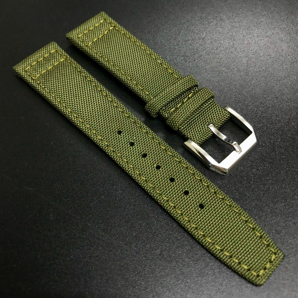 IWC Style Army Green Nylon Watch Strap - Strapholic_錶帶工房, Rolex, IWC, Panerai, AP, Cartier, Tudor, Omega, Watch_Bands