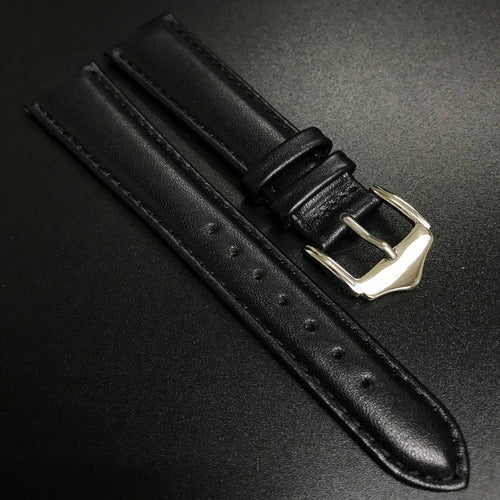 Black Calf Leather Leather Watch Strap - Strapconcept_錶帶工房, Rolex_Leather, IWC_Strap, Panerai_Strap, AP_Rubber, Cartier_Leather, Tudor_Nato, Omega_Rubber, Watch_Straps