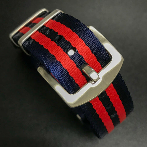 Blue / Red Nato Style High Quality Nylon Watch Strap - Strapholic_錶帶工房, Rolex, IWC, Panerai, AP, Cartier, Tudor, Omega, Watch_Bands