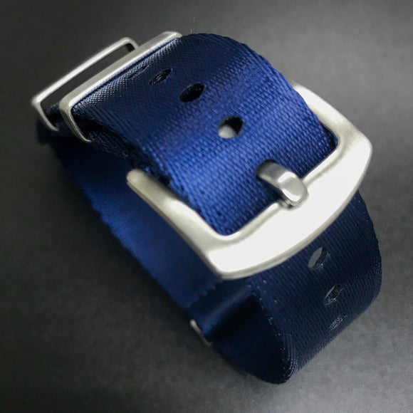 Blue Nato Style High Quality Nylon Watch Strap - Strapholic_錶帶工房, Rolex, IWC, Panerai, AP, Cartier, Tudor, Omega, Watch_Bands