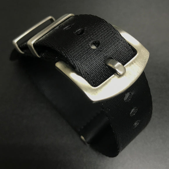 Black Nato Style High Quality Nylon Watch Strap - Strapholic_錶帶工房, Rolex, IWC, Panerai, AP, Cartier, Tudor, Omega, Watch_Bands