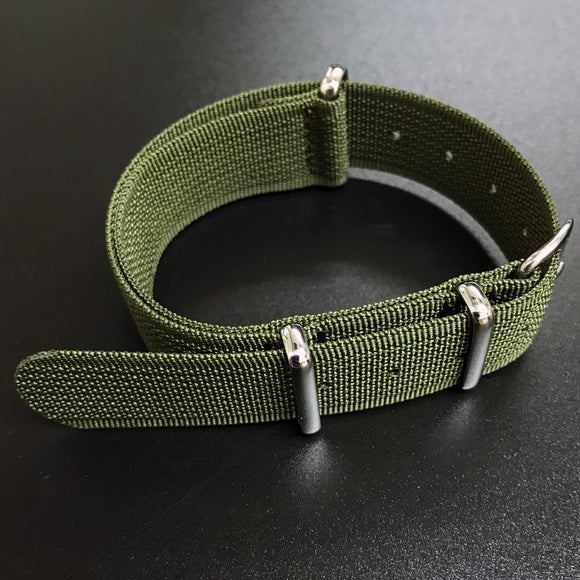 Army Green Nato Style High Quality Nylon Watch Strap - Strapholic_錶帶工房, Rolex, IWC, Panerai, AP, Cartier, Tudor, Omega, Watch_Bands