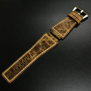 Premium Spice Brown Calf Leather Watch Strap - Strapconcept_錶帶工房, Rolex_Leather, IWC_Strap, Panerai_Strap, AP_Rubber, Cartier_Leather, Tudor_Nato, Omega_Rubber, Watch_Straps