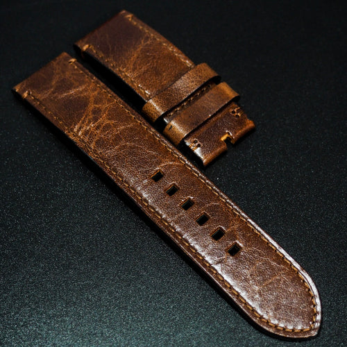 Premium Brown Calf Leather Watch Strap For Tudor Black Bay Bronze - Strapholic_錶帶工房, Rolex, IWC, Panerai, AP, Cartier, Tudor, Omega, Watch_Bands