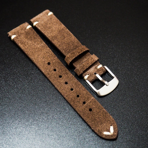 Vintage Style Brown Italian Calf Leather Watch Strap - Strapconcept_錶帶工房, Rolex_Leather, IWC_Strap, Panerai_Strap, AP_Rubber, Cartier_Leather, Tudor_Nato, Omega_Rubber, Watch_Straps