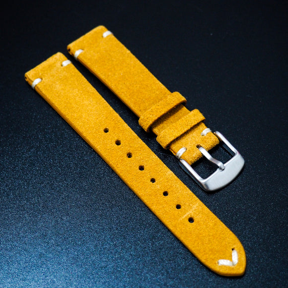 Vintage Style Honey Orange Italian Calf Leather Watch Strap - Strapholic_錶帶工房, Rolex, IWC, Panerai, AP, Cartier, Tudor, Omega, Watch_Bands
