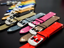 Vintage Style Red Italian Calf Leather Watch Strap - Strapconcept_錶帶工房, Rolex_Leather, IWC_Strap, Panerai_Strap, AP_Rubber, Cartier_Leather, Tudor_Nato, Omega_Rubber, Watch_Straps