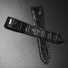 Premium Black Alligator Leather Watch Strap w/ Deployment Clasp For Santos de Cartier - Strapholic_錶帶工房, Rolex, IWC, Panerai, AP, Cartier, Tudor, Omega, Watch_Bands