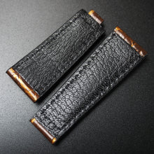 20mm Brown / Golden Vintage Alligator Leather Watch Strap With Clasp For Rolex - Strapholic_錶帶工房, Rolex, IWC, Panerai, AP, Cartier, Tudor, Omega, Watch_Bands