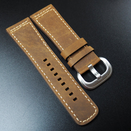 SevenFriday Style Ochre Orange Calf Leather Watch Strap - Strapholic_錶帶工房, Rolex, IWC, Panerai, AP, Cartier, Tudor, Omega, Watch_Bands