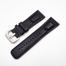 SevenFriday Style Black Calf Leather Watch Strap w/ Buckle - Strapholic_錶帶工房, Rolex, IWC, Panerai, AP, Cartier, Tudor, Omega, Watch_Bands