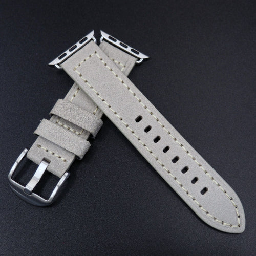 Gray Italian Genesis Calf Leather Watch Strap For Apple Watch - Strapconcept_錶帶工房, Rolex_Leather, IWC_Strap, Panerai_Strap, AP_Rubber, Cartier_Leather, Tudor_Nato, Omega_Rubber, Watch_Straps