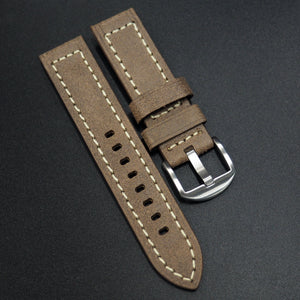 Cider Orange Italian Genesis Calf Leather Handmade Watch Strap w/ Buckle - Strapholic_錶帶工房, Rolex, IWC, Panerai, AP, Cartier, Tudor, Omega, Watch_Bands
