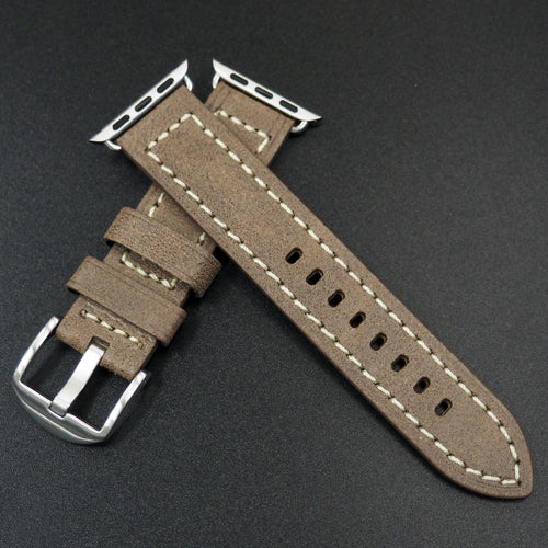 Cider Orange Italian Genesis Calf Leather Watch Strap For Apple Watch - Strapconcept_錶帶工房, Rolex_Leather, IWC_Strap, Panerai_Strap, AP_Rubber, Cartier_Leather, Tudor_Nato, Omega_Rubber, Watch_Straps