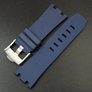 Navy Blue Premium Rubber Watch Strap With Buckle For Audemars Piguet Royal Oak Offshore - Strapholic_錶帶工房, Rolex, IWC, Panerai, AP, Cartier, Tudor, Omega, Watch_Bands