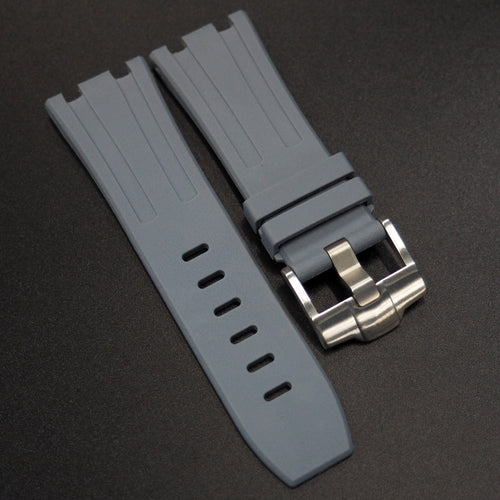 Grey Premium Rubber Watch Strap With Buckle For Audemars Piguet Royal Oak Offshore - Strapholic_錶帶工房, Rolex, IWC, Panerai, AP, Cartier, Tudor, Omega, Watch_Bands