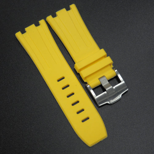 Yellow Premium Rubber Watch Strap With Buckle For Audemars Piguet Royal Oak Offshore - Strapholic_錶帶工房, Rolex, IWC, Panerai, AP, Cartier, Tudor, Omega, Watch_Bands