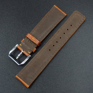 Orange Alligator-Embossed Calf Leather Watch Strap For IWC - Strapholic_錶帶工房, Rolex, IWC, Panerai, AP, Cartier, Tudor, Omega, Watch_Bands