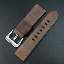 Brown 74 Embossed Vintage Style Calf Leather Watch Strap w/ Buckle For Panerai - Strapholic_錶帶工房, Rolex, IWC, Panerai, AP, Cartier, Tudor, Omega, Watch_Bands