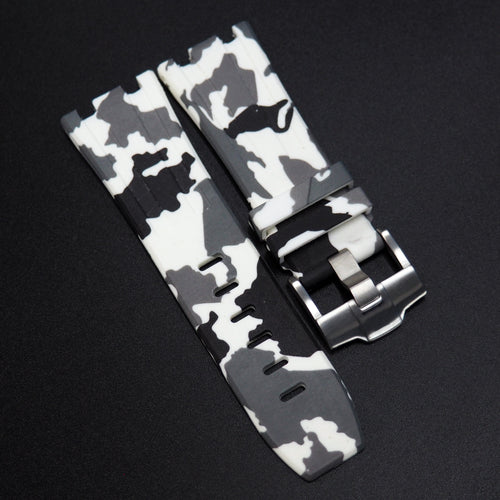 White Camouflage Premium Rubber Watch Strap With Buckle For Audemars Piguet Royal Oak Offshore - Strapholic_錶帶工房, Rolex, IWC, Panerai, AP, Cartier, Tudor, Omega, Watch_Bands
