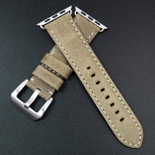Green Italy Genesis Calf Leather Watch Strap For Apple Watch - Strapconcept_錶帶工房, Rolex_Leather, IWC_Strap, Panerai_Strap, AP_Rubber, Cartier_Leather, Tudor_Nato, Omega_Rubber, Watch_Straps