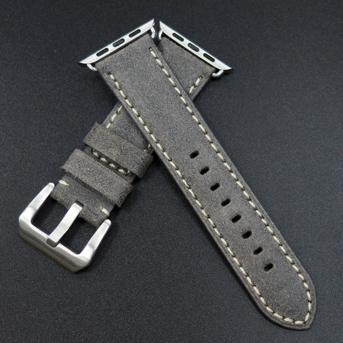 Black Italy Genesis Calf Leather Watch Strap For Apple Watch - Strapconcept_錶帶工房, Rolex_Leather, IWC_Strap, Panerai_Strap, AP_Rubber, Cartier_Leather, Tudor_Nato, Omega_Rubber, Watch_Straps