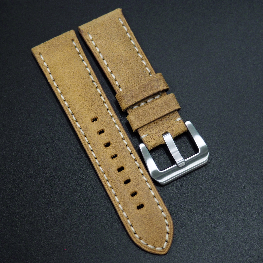 Yellow Italy Genesis Calf Leather Watch Strap For Panerai - Strapholic_錶帶工房, Rolex, IWC, Panerai, AP, Cartier, Tudor, Omega, Watch_Bands