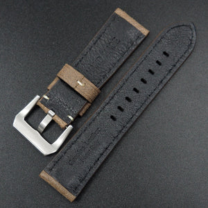 Brown Italy Genesis Calf Leather Watch Strap For Panerai - Strapholic_錶帶工房, Rolex, IWC, Panerai, AP, Cartier, Tudor, Omega, Watch_Bands