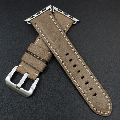 Brown Italy Genesis Calf Leather Watch Strap For Apple Watch - Strapconcept_錶帶工房, Rolex_Leather, IWC_Strap, Panerai_Strap, AP_Rubber, Cartier_Leather, Tudor_Nato, Omega_Rubber, Watch_Straps