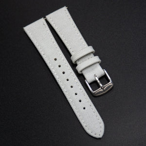 Gray Nylon/Calf Leather Watch Strap - Strapholic_錶帶工房, Rolex, IWC, Panerai, AP, Cartier, Tudor, Omega, Watch_Bands