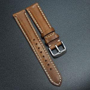Vintage Style Brown Italian Calf Leather Watch Strap - Strapholic_錶帶工房, Rolex, IWC, Panerai, AP, Cartier, Tudor, Omega, Watch_Bands