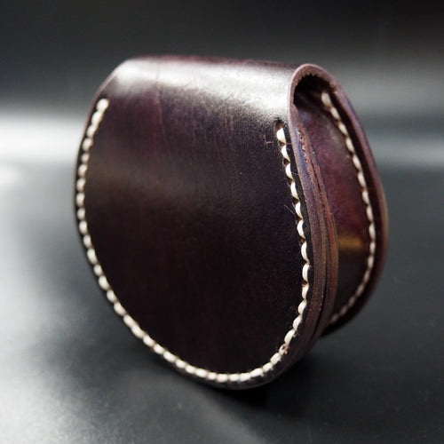 Maroon Shell Genuine Leather Coin Purse - Strapconcept_錶帶工房, Rolex_Leather, IWC_Strap, Panerai_Strap, AP_Rubber, Cartier_Leather, Tudor_Nato, Omega_Rubber, Watch_Straps