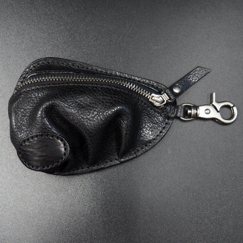 Zippy Black Genuine Leather Coin Bag with Clasp - Strapconcept_錶帶工房, Rolex_Leather, IWC_Strap, Panerai_Strap, AP_Rubber, Cartier_Leather, Tudor_Nato, Omega_Rubber, Watch_Straps