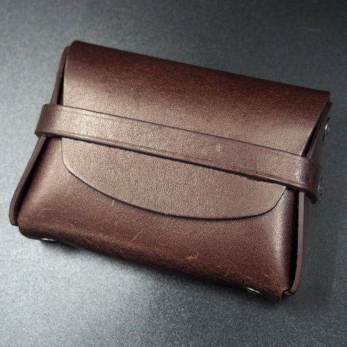 Brown Genuine Leather Coin/Card Case Wallet - Strapconcept_錶帶工房, Rolex_Leather, IWC_Strap, Panerai_Strap, AP_Rubber, Cartier_Leather, Tudor_Nato, Omega_Rubber, Watch_Straps