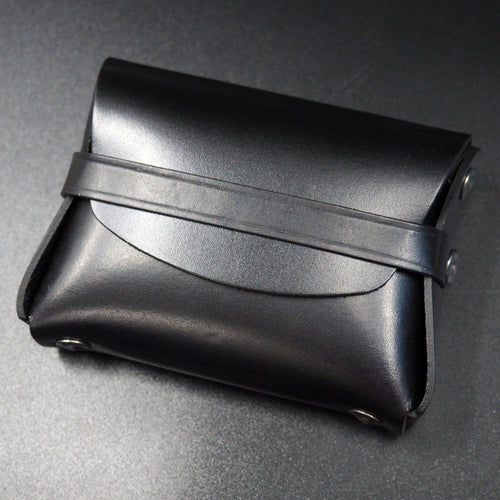 Black Genuine Leather Coin/Card Case Wallet - Strapconcept_錶帶工房, Rolex_Leather, IWC_Strap, Panerai_Strap, AP_Rubber, Cartier_Leather, Tudor_Nato, Omega_Rubber, Watch_Straps