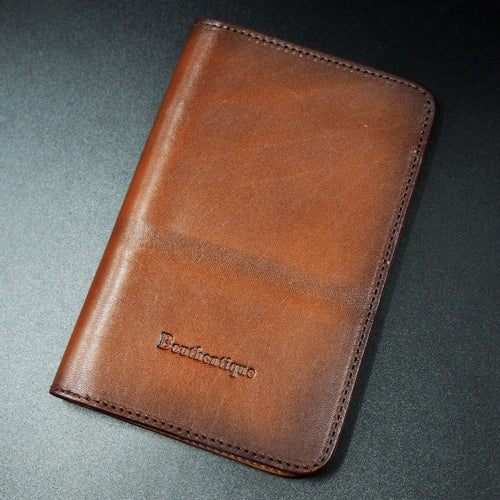 Burn Red Genuine Leather Passport Holder - Strapconcept_錶帶工房, Rolex_Leather, IWC_Strap, Panerai_Strap, AP_Rubber, Cartier_Leather, Tudor_Nato, Omega_Rubber, Watch_Straps