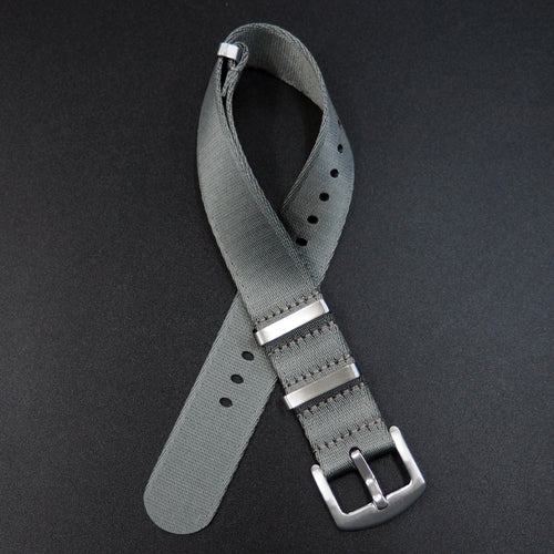 Gray Nato Style High Quality Nylon Watch Strap - Strapholic_錶帶工房, Rolex, IWC, Panerai, AP, Cartier, Tudor, Omega, Watch_Bands