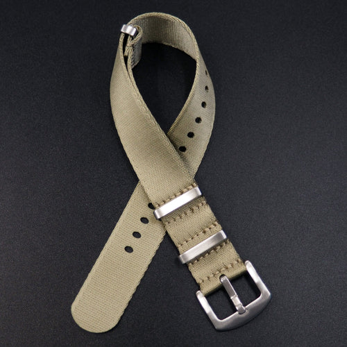 Khaki Nato Style High Quality Nylon Watch Strap - Strapholic_錶帶工房, Rolex, IWC, Panerai, AP, Cartier, Tudor, Omega, Watch_Bands