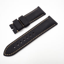 24mm Black Calf Leather Watch Strap w/ Buckle For Panerai - Strapholic_錶帶工房, Rolex, IWC, Panerai, AP, Cartier, Tudor, Omega, Watch_Bands