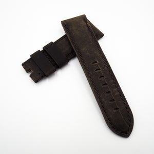 24mm Dark Brown Calf Leather Watch Strap w/ Buckle For Panerai - Strapholic_錶帶工房, Rolex, IWC, Panerai, AP, Cartier, Tudor, Omega, Watch_Bands