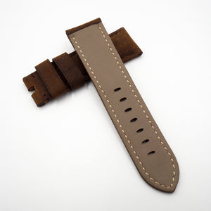 Panerai Style Deep Brown Calf Leather Watch Strap - Strapholic_錶帶工房, Rolex, IWC, Panerai, AP, Cartier, Tudor, Omega, Watch_Bands