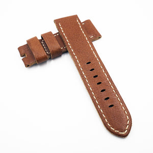 24mm Brown Calf Leather Watch Strap w/ Buckle For Panerai - Strapholic_錶帶工房, Rolex, IWC, Panerai, AP, Cartier, Tudor, Omega, Watch_Bands