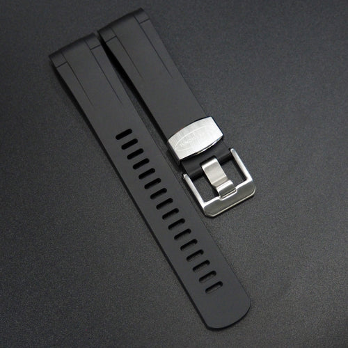 Black Premium Vulcanised Rubber Watch Strap w/ Curved Ends For Tudor Pelagos Series - Strapholic_錶帶工房, Rolex, IWC, Panerai, AP, Cartier, Tudor, Omega, Watch_Bands